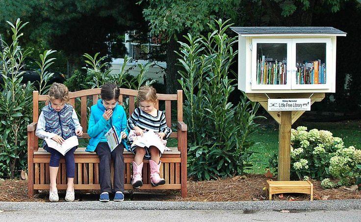 Cabane à livres  via littlefreelibrary.org
