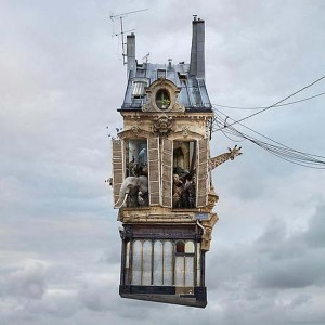 Nature morte - Flying houses par Laurent Chéhè