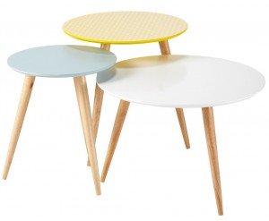 ...3 tables gigognes tendance scandinave...