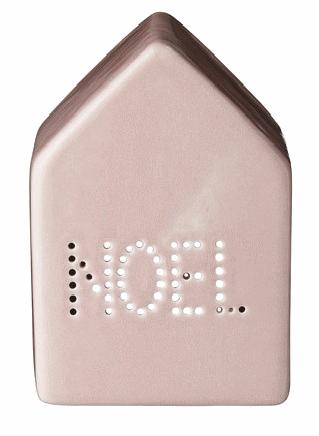 maison céramique rose NOÊL  chez DECOCLICO  rogné et transparent